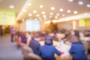 Blur of business Conference