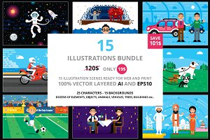 15 Illustrations Big Bundle