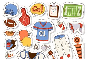 Football game sport icons vector
