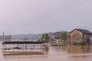 flooded road junction