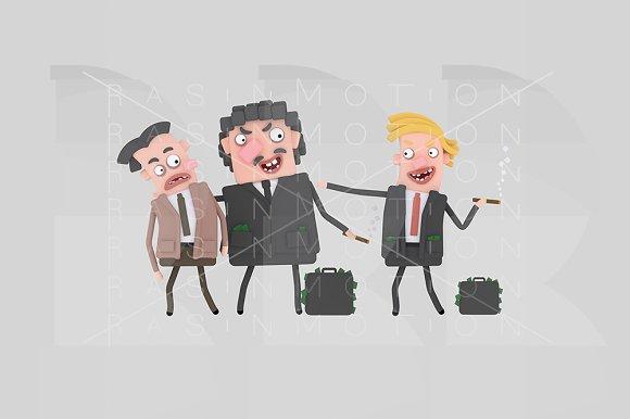 3d Illustration. Corruption. - Illustrations