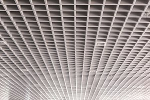 roof structure of modern building.