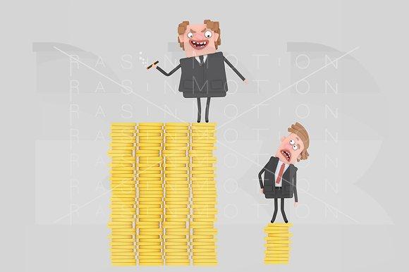 3d Illustration. Business men. - Illustrations