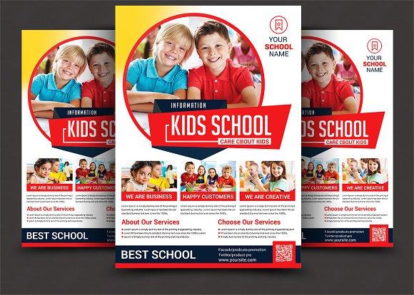 junior school education flyer flyer templates creative market