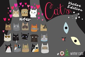 Cats Bundle Vector Edition