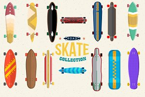 Skateboard Collection Vector Set