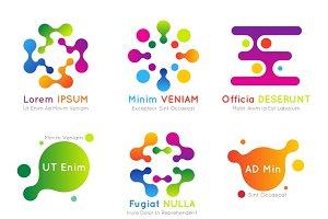 Molecular vector business logo set