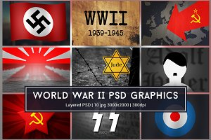 World War II WW2 PSD Graphics