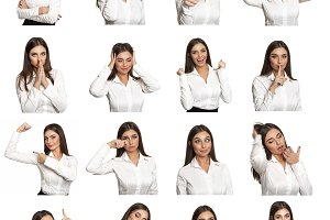 different emotions of businesswoman