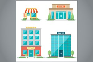 Vector shop fronts