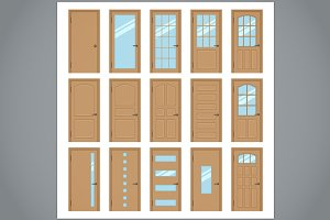 Vector interior doors