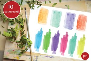 10 watercolor background