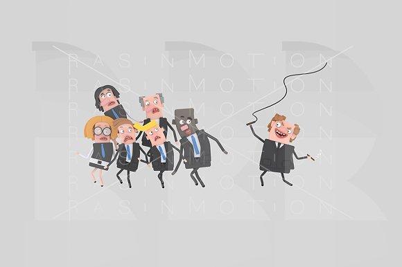 3d illustration. Boss controlling. - Illustrations