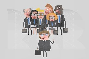 3d illustration. Business team.
