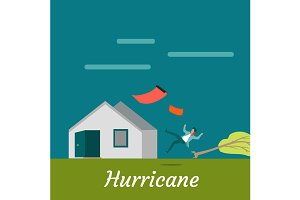 Hurricane Destroying House