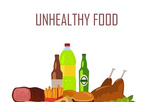 Unhealthy Food Banner