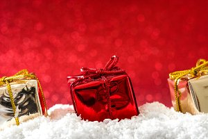 Christmas gift boxes ornaments