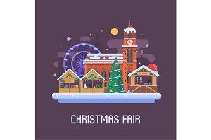 Christmas Fair Background