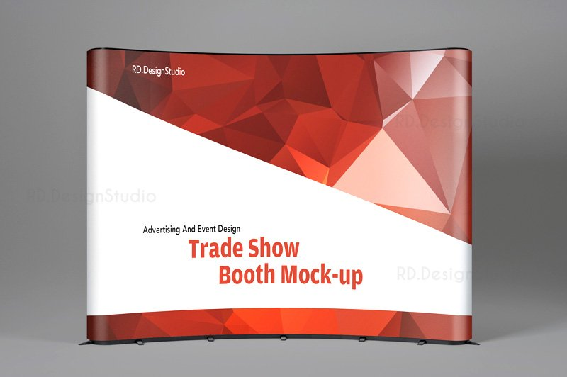 Pop Up Exhibition Stand Mockup Free : Tradeshow display booth mockup product mockups