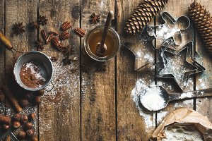 Christmas cooking ingredients