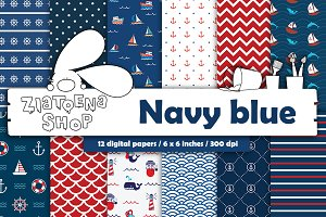 Navy Paper Pack