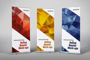 Roll Up Banner Mock-Ups