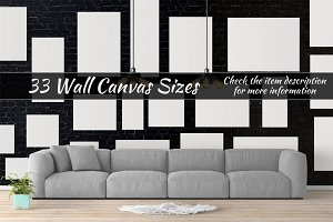 Canvas Mockups Vol 58