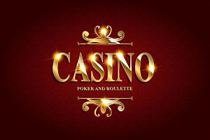 Casino Poster Background. 4 cards