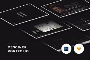 Designer Portfolio (PSD/Sketch)