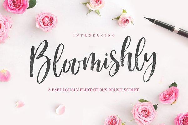 Bloomishly Brush Font