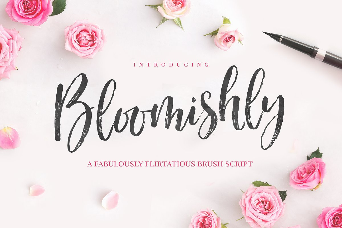 Bloomishly Brush Font