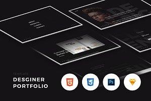 Designer Portfolio (HTML/CSS)