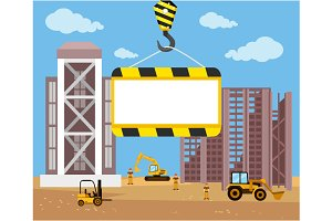 Construction and building banner