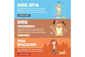 Dog grooming. Dog service