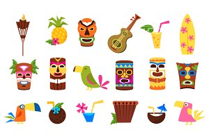 Hawaii Colourful Vector Illustration