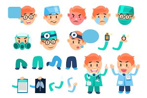 Doctor designer Healthcare Elements