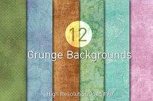 12 Grunge Backgrounds (Free Bonus)