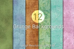 12 Grunge Backgrounds (Free Bonus)