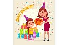 Little girl character birthday.
