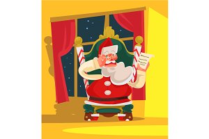 Santa Claus sitting on armchair