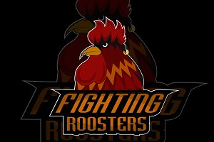 fighting roosters logo design