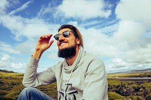 Icelandic bearded man