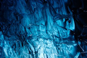 Blue Icewall in an Ice Cave