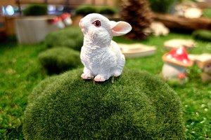 White rabbit mini figure
