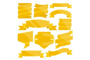 Vector Banners, Ribbons, Badges Set