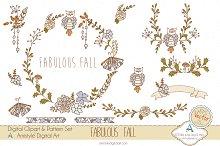Fabulous Fall Clipart&Vector