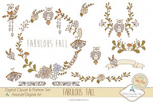 Fabulous Fall Clipart&Vector