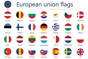 European Union Flags  50% OFF
