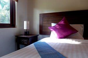Bedroom and warm lighting