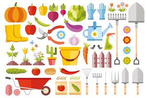 Flat Gardening and Farming Set